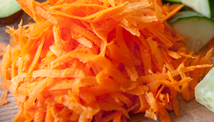Chopped soft peeled or cooked vegetables and fruits (carrots, green beans, peaches, pears)