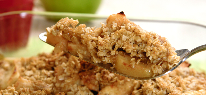 Finish off your meal with an apple crisp, just like Grandma used to make!