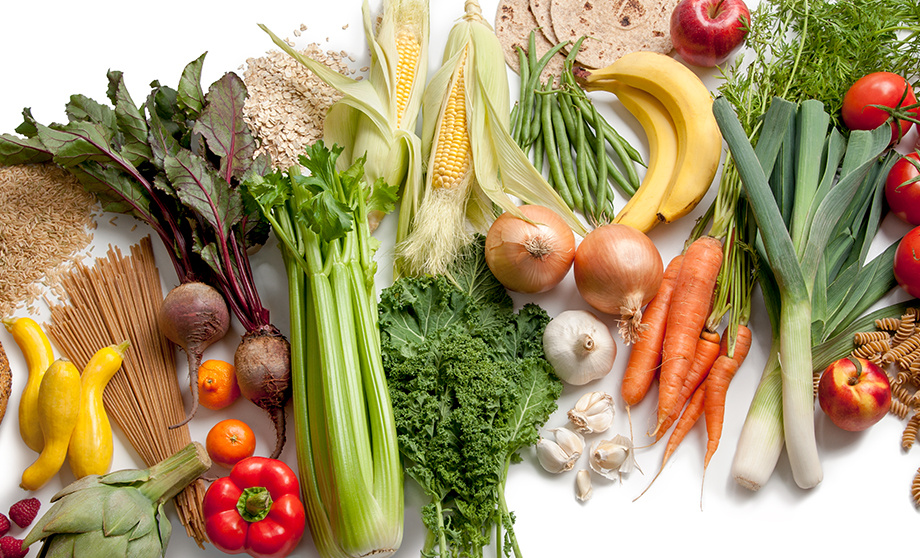 Fruits and vegetables are fiber-rich foods.