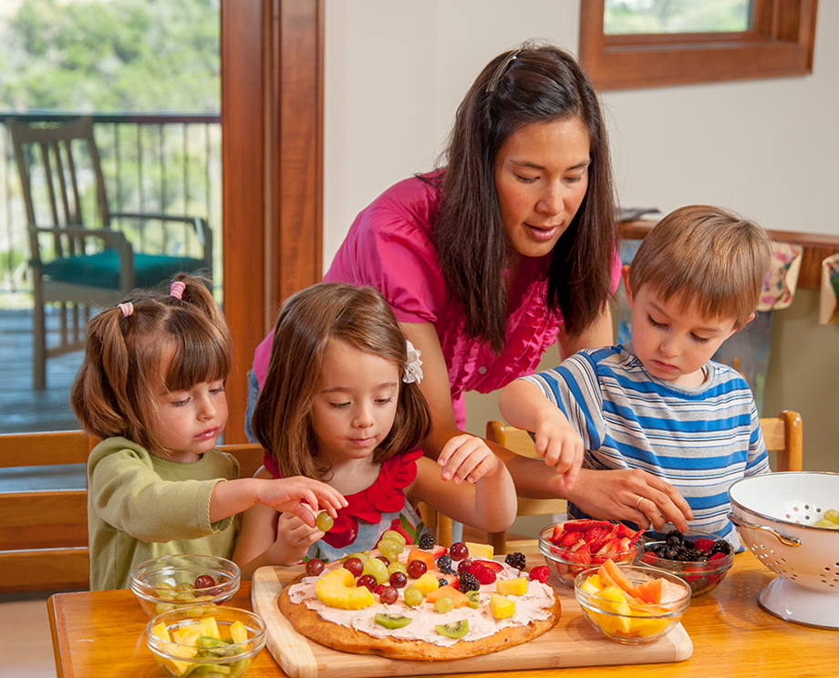"Try a ""Make Your Own"" night. Let your family put together its own soft tacos, sandwiches, pizza, or salads."