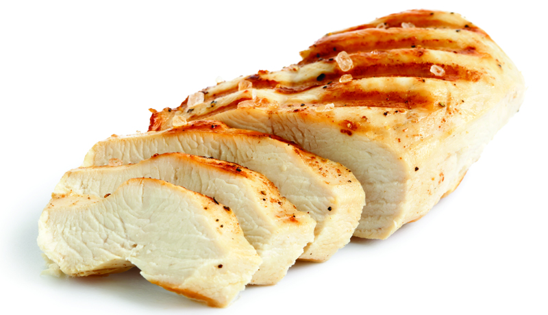 Soft cooked meats (chopped chicken or turkey)