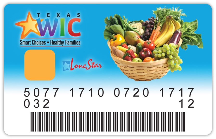 Your Texas WIC card works like a debit card and keeps track of your food benefits for each month.