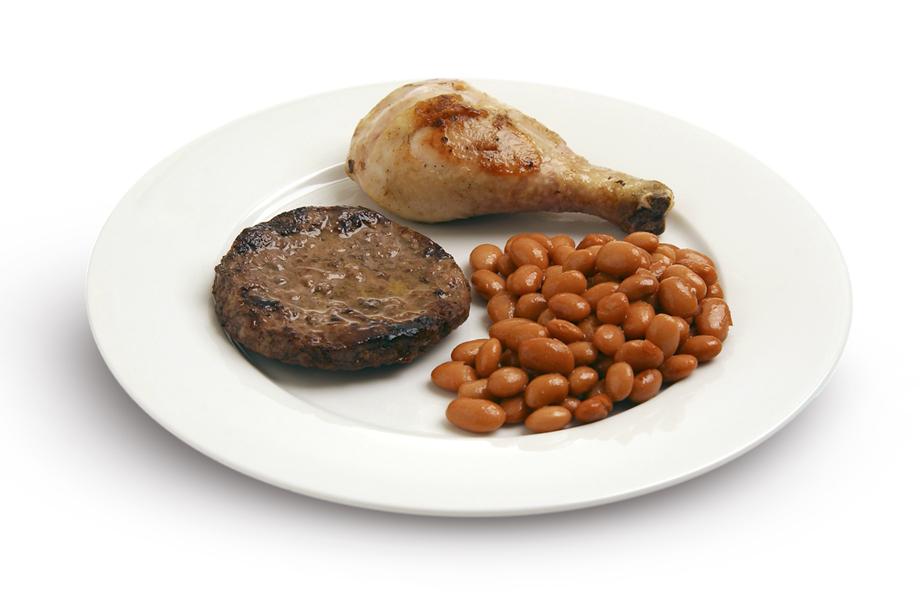 Choose lean protein like chicken, fish, lean beef, or beans.