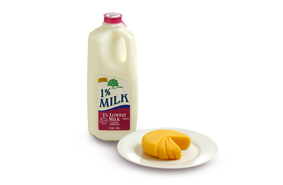 Offer fat-free (skim) or low-fat (1%) milk (instead of whole or 2% milk) to children once they are age two.