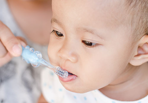 Protecting those little teeth starts with keeping them sparkling clean.