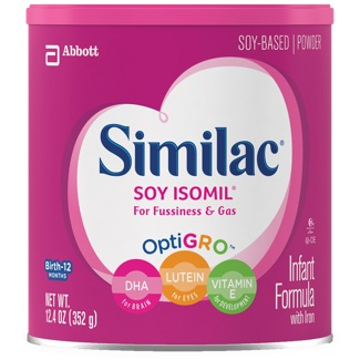 Similac Soy Based container