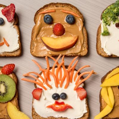 Make snack time fun by letting your kids create art out of food!