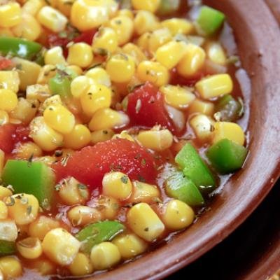 This Spanish style corn is a colorful side that is sure to brighten up your plate and please the whole family.