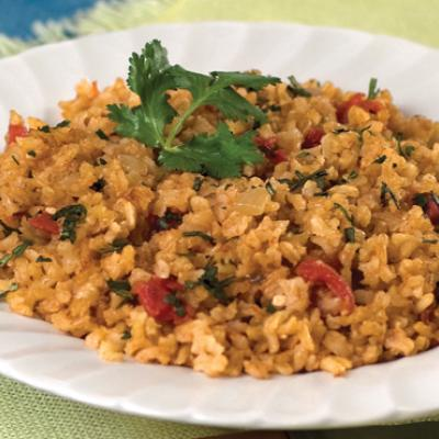 Brown rice provides an excellent source of whole grains in this easy version of a classic side dish.