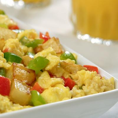Start your morning with this colorful and tasty breakfast scramble.