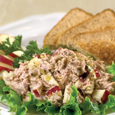 An apple adds a touch of sweetness and crunch to this easy and delicious tuna salad.